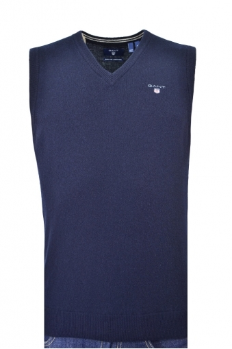 Gant Super Fine Lambswool Slip Over Navy