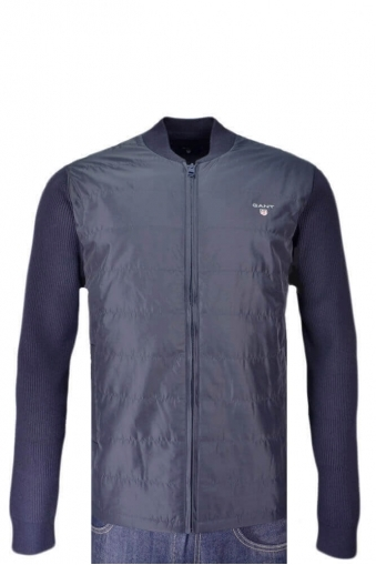 Gant Tech Prep Cycling Full Zip Knitwear Jacket Navy