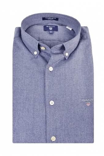 Gant Tech Prep Oxford Solid Long Sleeve Regular Fit Shirt Blue
