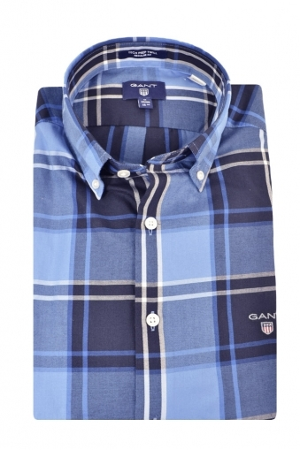 Gant Tech Prep Twill Long Sleeve Shirt Blue Multi Check