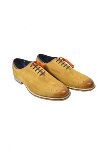 Goodwin Smith Allan Acid Washed Wholecut Oxford Shoes