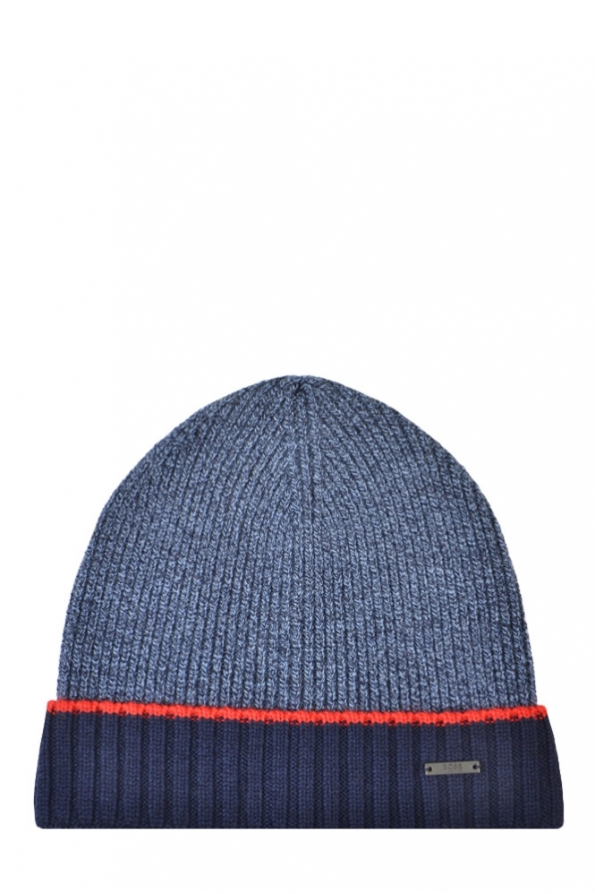 Hugo Boss Black Frisk Beanie Hat Navy