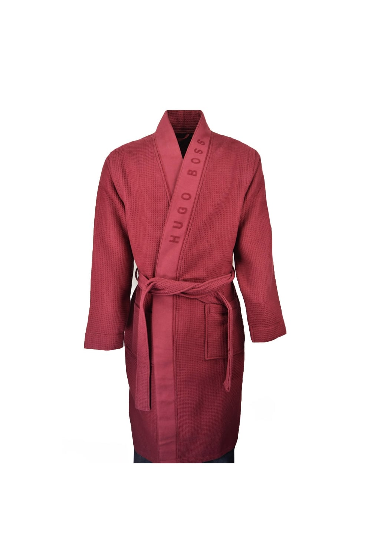 Hugo Boss Black Heavyweight Kimono Dressing Gown Dark Red Clothing