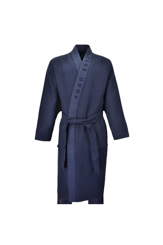 Hugo Boss Black Heavyweight Kimono Dressing Gown Navy Clothing