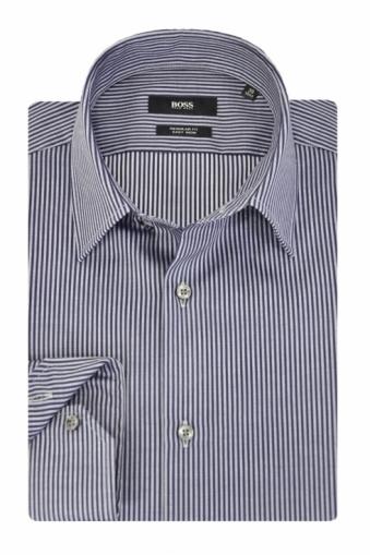 Hugo Boss Black Enzo Shirt Navy Stripe