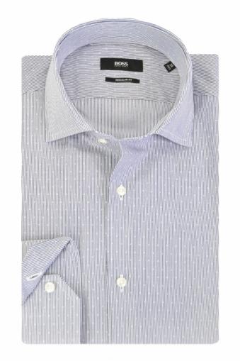 Hugo Boss Black Gordon Long Sleeve Shirt Medium Blue