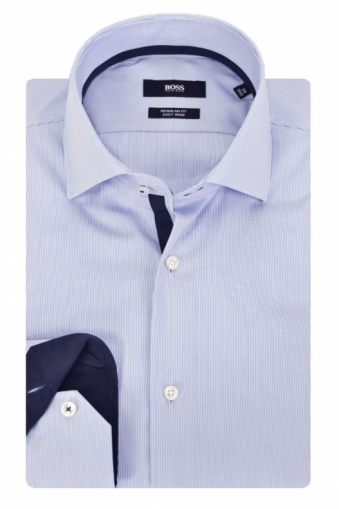 Hugo Boss Black Gregory Long Sleeve Shirt Blue