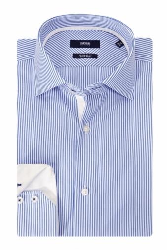 Hugo Boss Black Gregory Striped Shirt Blue Stripe