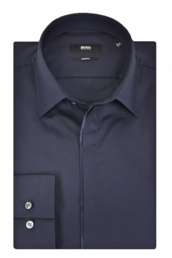 Hugo Boss Black Jamis Shirt Navy Slim fit