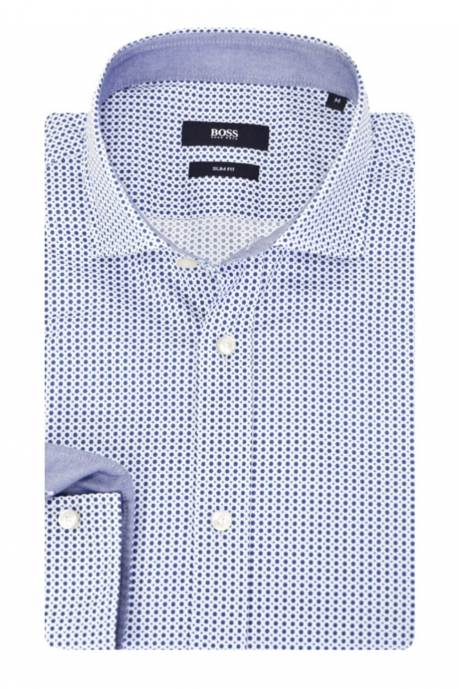 Hugo Boss Black Hugo Boss Ridley 2 Slim Fit Shirt Spotted