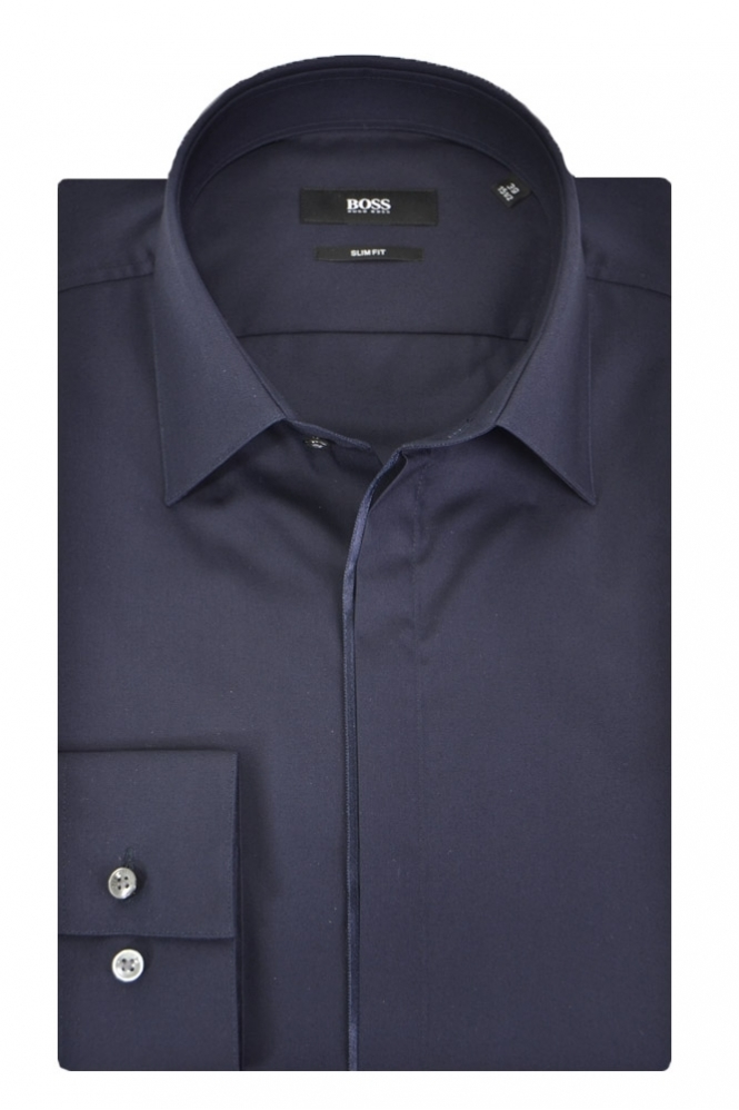 Hugo Boss Black Jamis Shirt Navy Slim fit