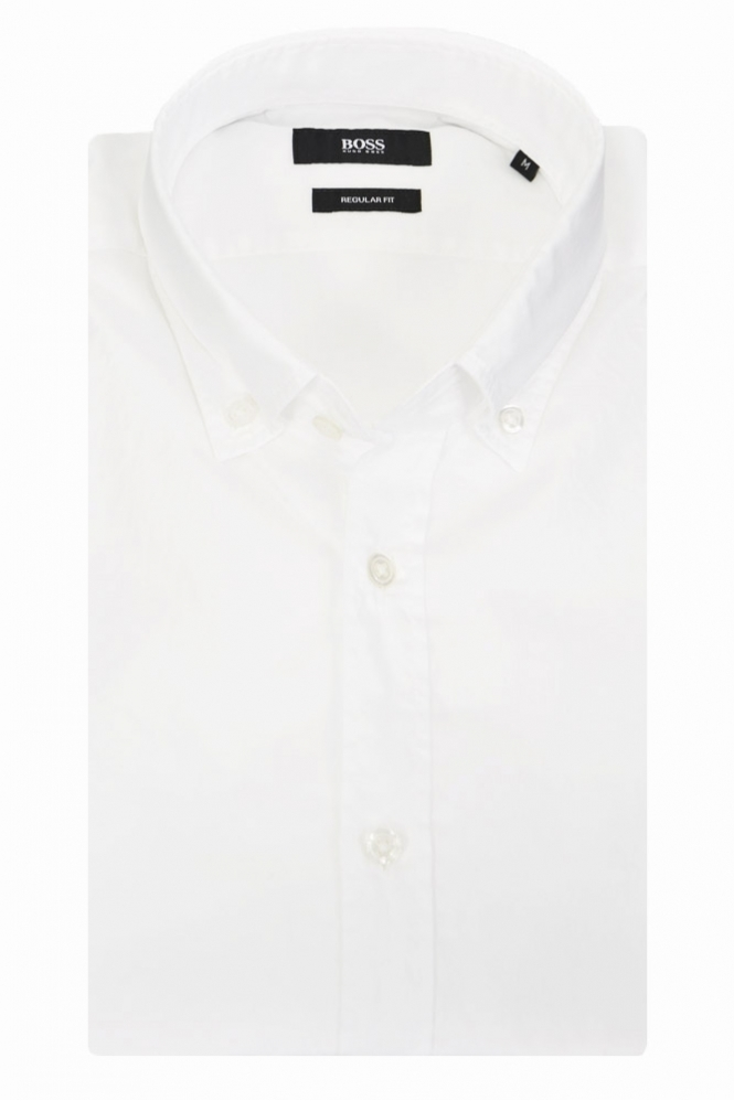 1655820f Hugo Boss Black Leonard E Button Down Shirt - Clothing from Michael ...