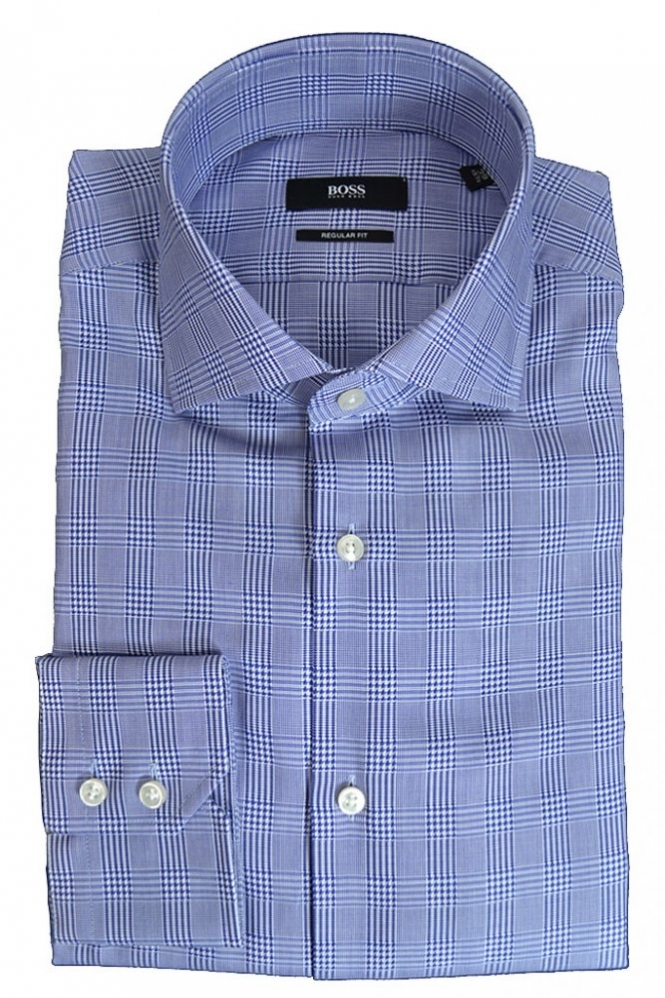 Hugo Boss Black Hugo Boss Gerald Shirt Blue Check