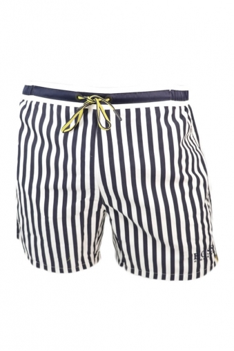 Hugo Boss Green Bannerfish Swim Shorts Navy Stripe