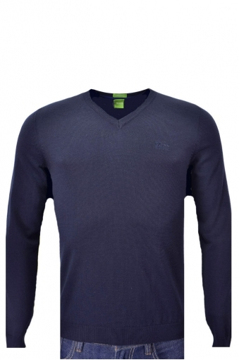 Hugo Boss Green C-callum V-neck Jumper