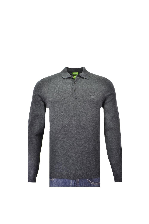 f2e4e14af Hugo Boss Green C-camus Long Sleeved Knitted Polo Knitwear ...