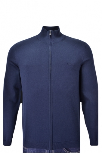 Hugo Boss Green C-castor Full Zip Knitwear