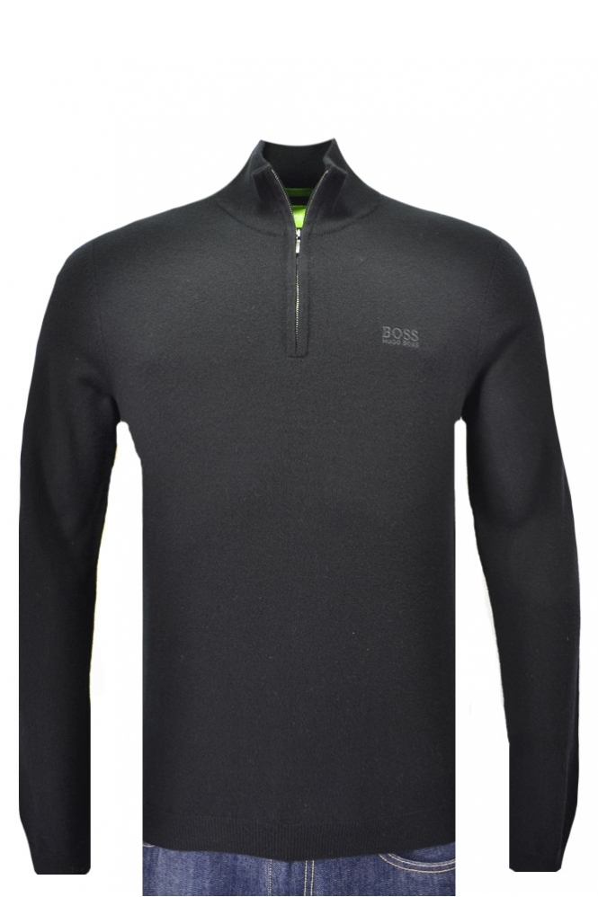 Hugo Boss Green C-Ceno Half Zip Knitwear