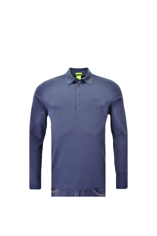 63e79dee6 Hugo Boss Green C-paderna 30 Long Sleeved Polo Shirt - Clothing from ...