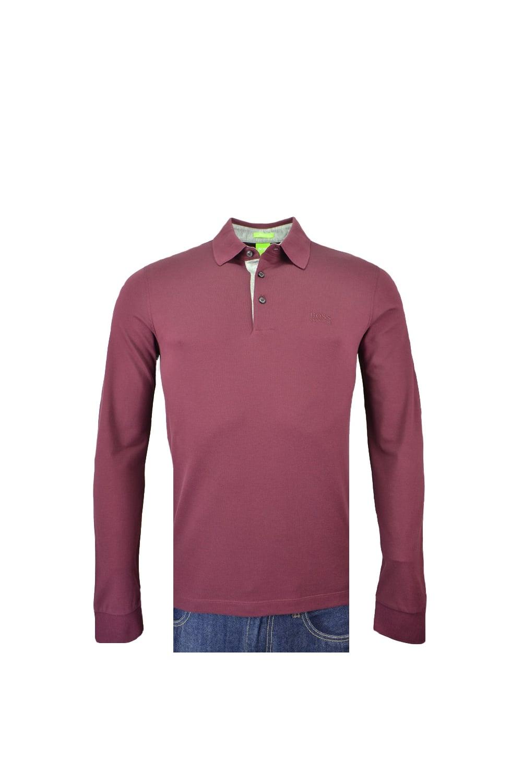 Hugo Boss Green C-paderna Long Sleeve Polo Shirt