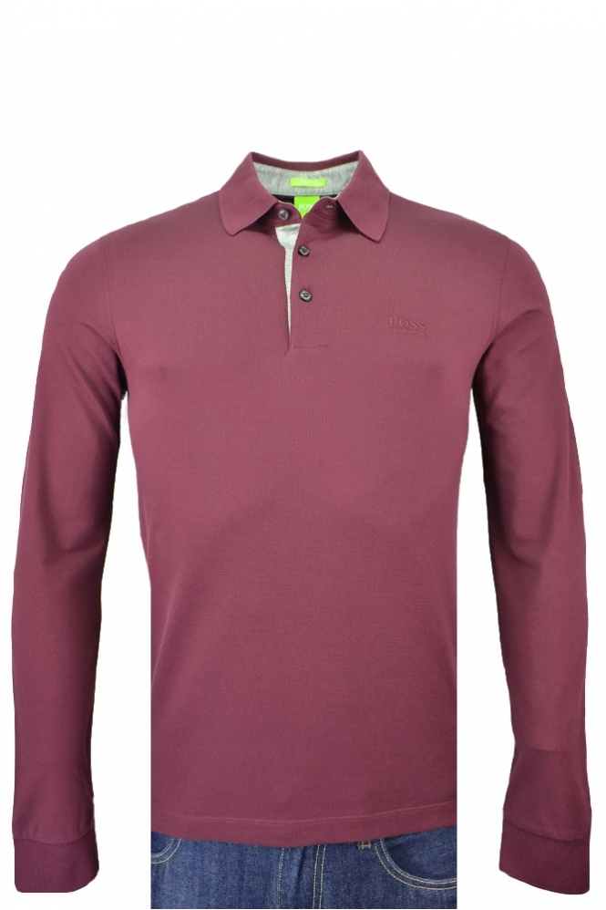 Hugo Boss Green C-paderna Long Sleeve Polo Shirt