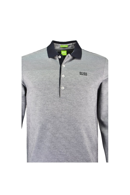 0754f6e1 italy mens phillian long sleeve polo charcoal grey regular fit polo shirt  24b93 00fc6; 50% off hugo boss green c pirona long sleeve polo shirt grey  32ab0 ...