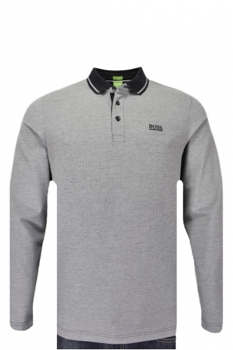 Hugo Boss Green C-prato Long Sleeve Polo Shirt