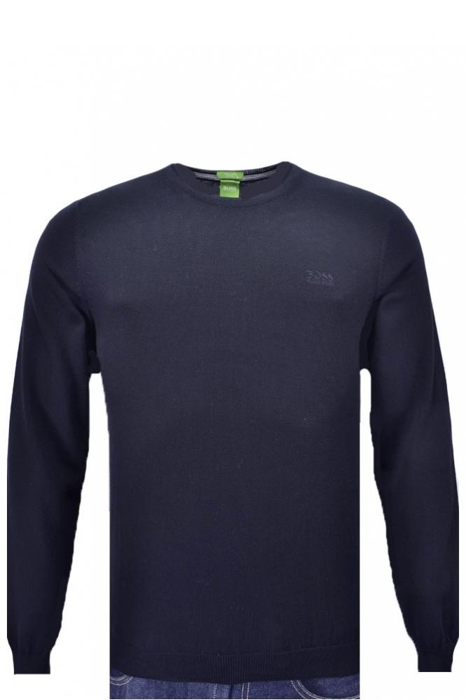 1e9fcf20 Hugo Boss Green Caspar Crew Neck Jumper - Clothing from Michael ...
