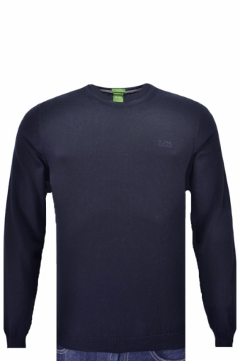 Hugo Boss Green Caspar Crew Neck Jumper