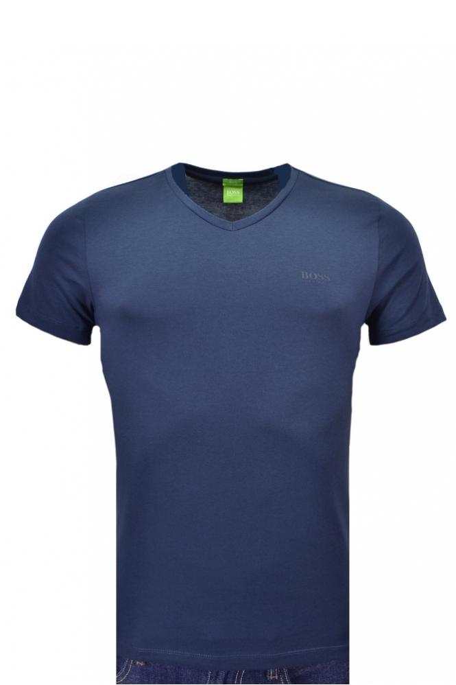 358348cc Hugo Boss Green Hugo Boss C-canistro 8o V Neck T Shirt - Clothing ...