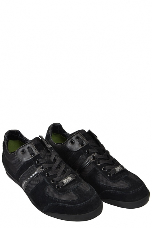 hugo boss green akeen trainer black footwear from. Black Bedroom Furniture Sets. Home Design Ideas