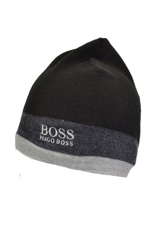 Hugo Boss Green Ciny Beanie Hat Black - Accessories from Michael ... 375cb930849