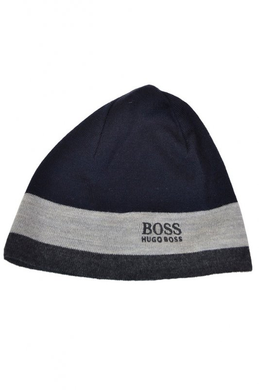 a771a137084 Hugo Boss Green Ciny Beanie Hat Navy - Accessories from Michael ...