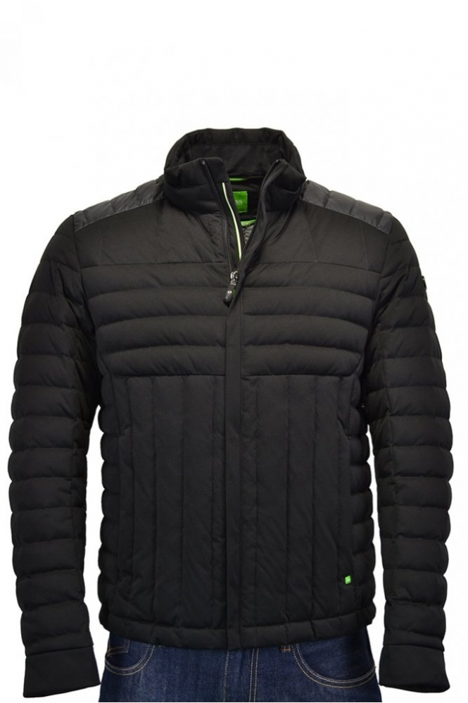 hugo boss green jessino jacket black clothing from