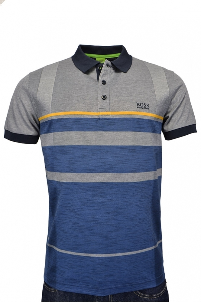 hugo boss green paule 1 polo shirt navy clothing from. Black Bedroom Furniture Sets. Home Design Ideas