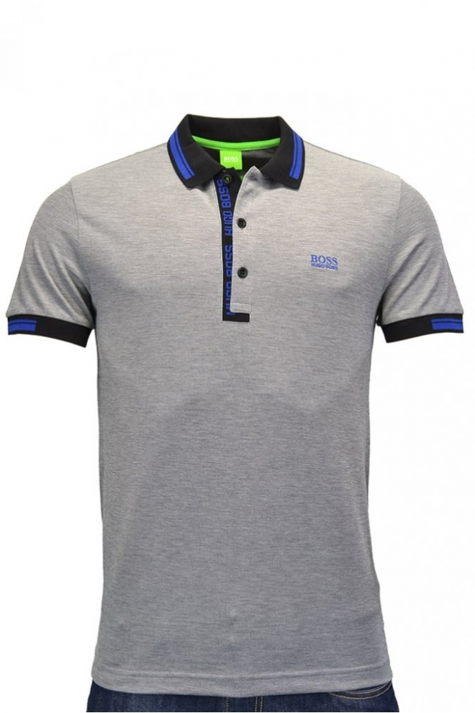 af89e55a0 Hugo Boss Green Paule 4 Polo Shirt Grey - Clothing from Michael ...