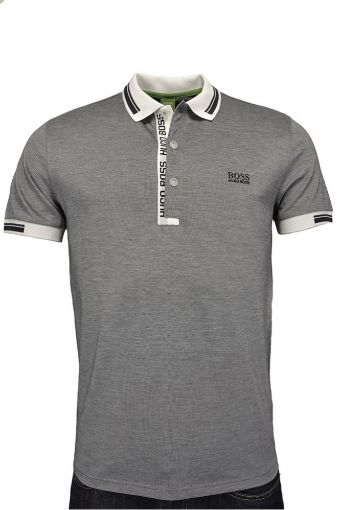 54fcd2c18 Hugo Boss Green Paule 4 Polo Shirt White - Clothing from Michael ...