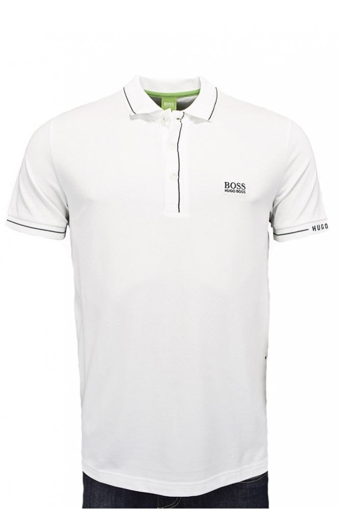 ca6c9800 Hugo Boss Green Paule Polo Shirt White - Clothing from Michael ...