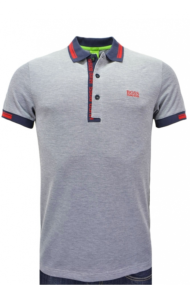 52382dd3 Hugo Boss Green Slim Fit Paule 4 Polo Shirt - Clothing from Michael ...