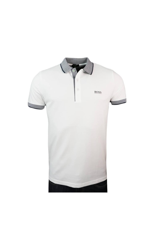 add84232 Hugo Boss Green Hugo Boss Paule 2 Slim Fit Polo Shirt White ...