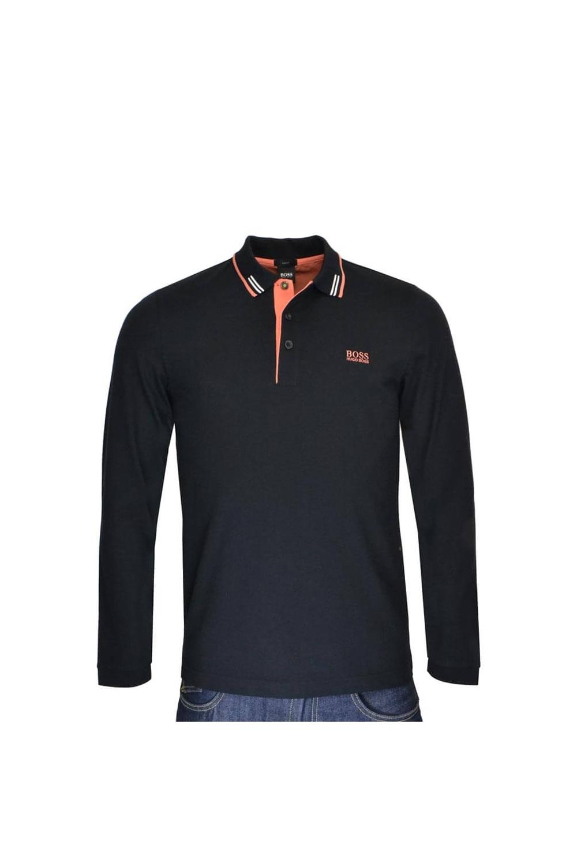 59997f8b5 Hugo Boss Green Polo Shirt Paulson in Black 50379472 | Michael Stewart