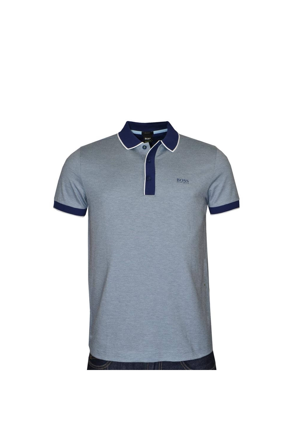 24582400 Hugo Boss Green Paddy Polo 5 in Blue 50392665 404