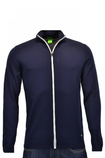 Hugo Boss Green Modern Fit Zeen Water Repellent Full Zip