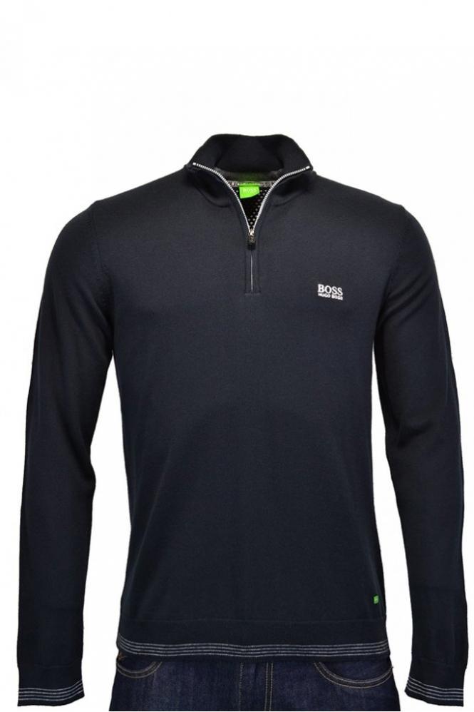 986ee1b7fa2a Hugo Boss Green Modern Fit Zime Half Zip Jumper - Clothing from ...