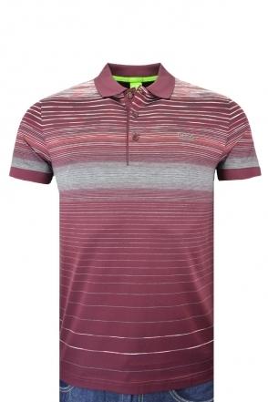 Hugo Boss Green Paddy 3 Multi Stripe Slim Fit Polo Shirt