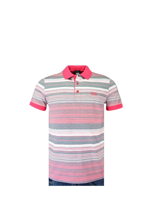 c04f9399ac Hugo Boss Green Paddy 3 Polo Shirt Multi Pink Stripe - Clothing from ...