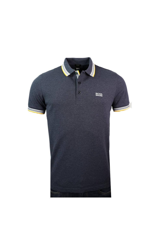 d63708555 Hugo Boss Green Paddy Polo Shirt Dark Blue Marl - Clothing from ...