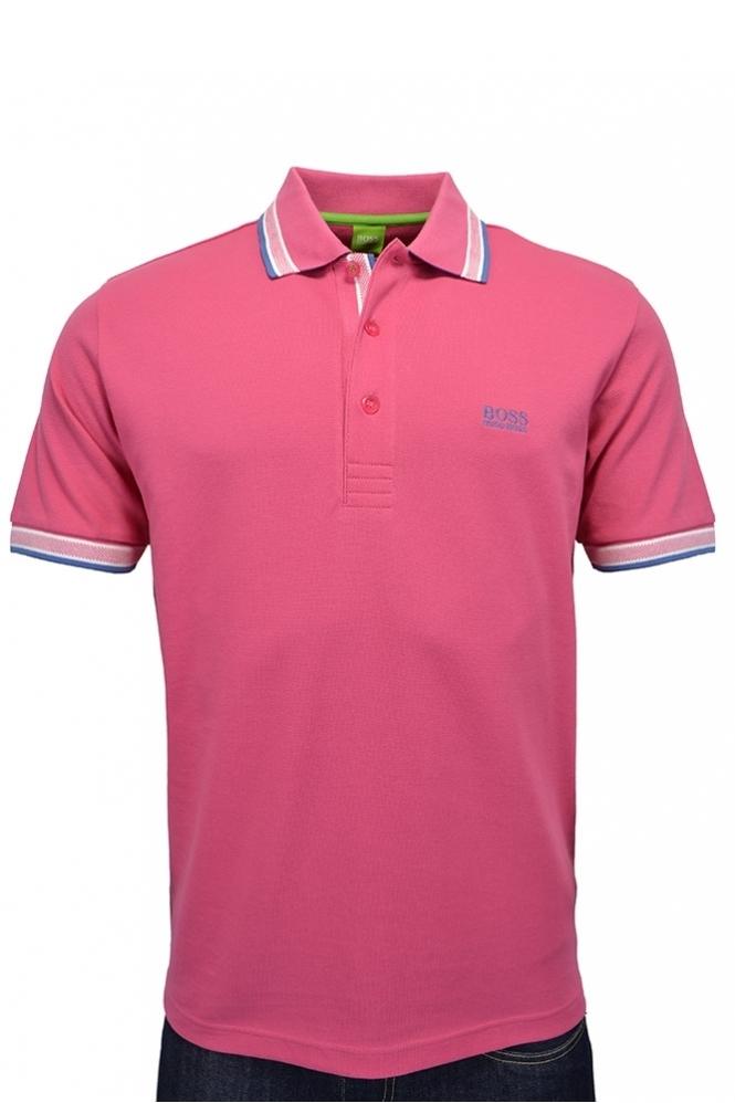 cb2ab05b4 Hugo Boss Green Paddy Polo Shirt Pink - Clothing from Michael ...