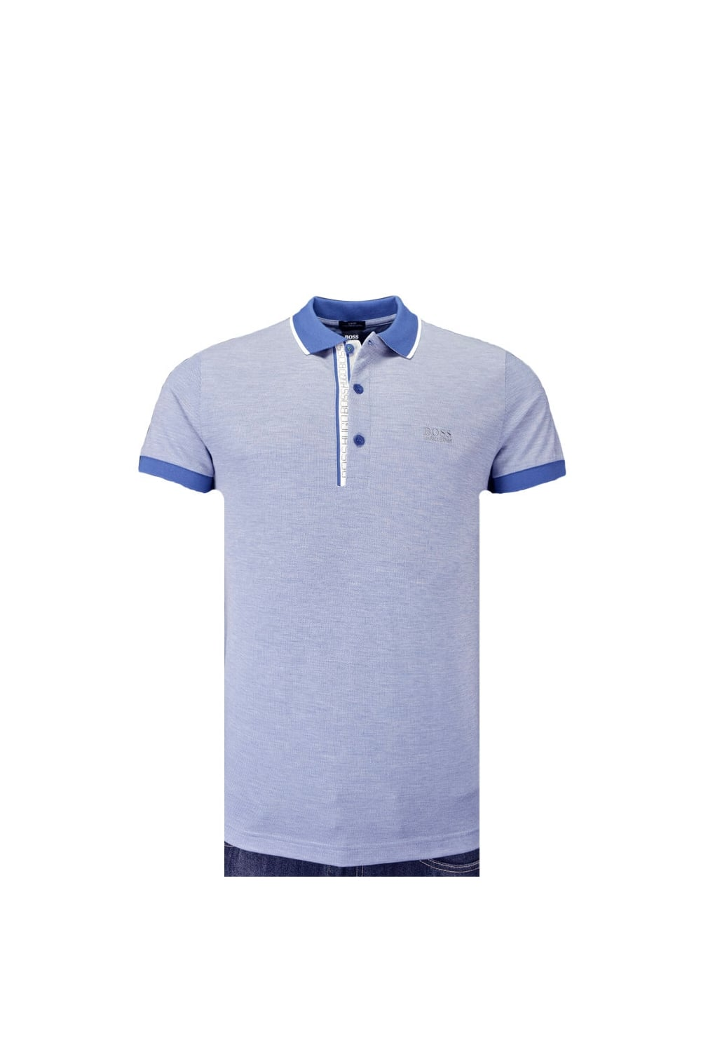 271ab0a62 Hugo Boss Green Paule 4 Polo Shirt Light Blue - Clothing from ...