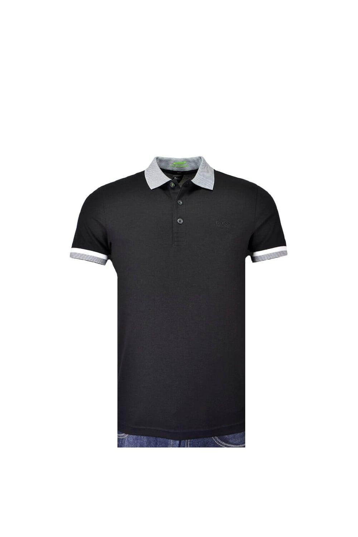 85fc4e80 ... free shipping hugo boss green paule slim fit polo shirt black f7e21  320ac